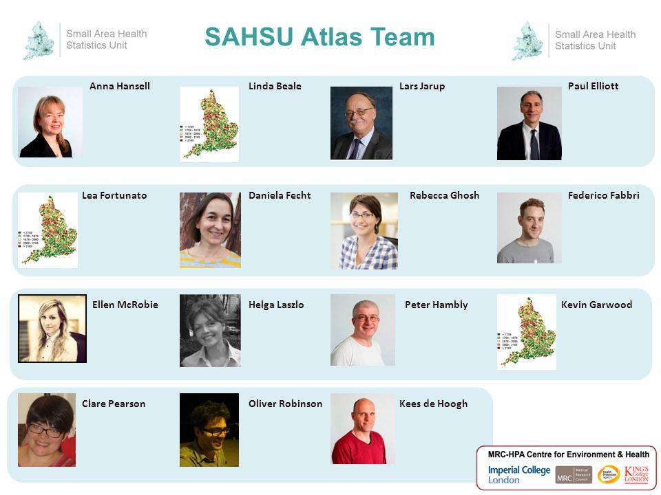 SAHSU Atlas Team Paul ElliottAnna Hansell Peter Hambly Kees de Hoogh Lea FortunatoDaniela FechtRebecca Ghosh Linda Beale Federico Fabbri Kevin Garwood
