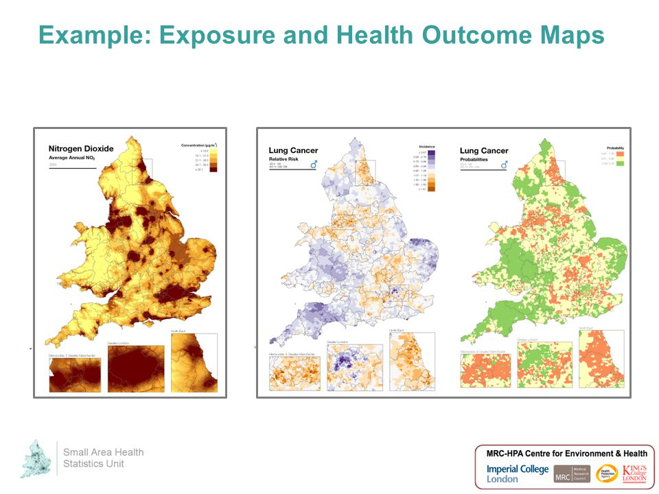 Example: Exposure and Health Outcome Maps