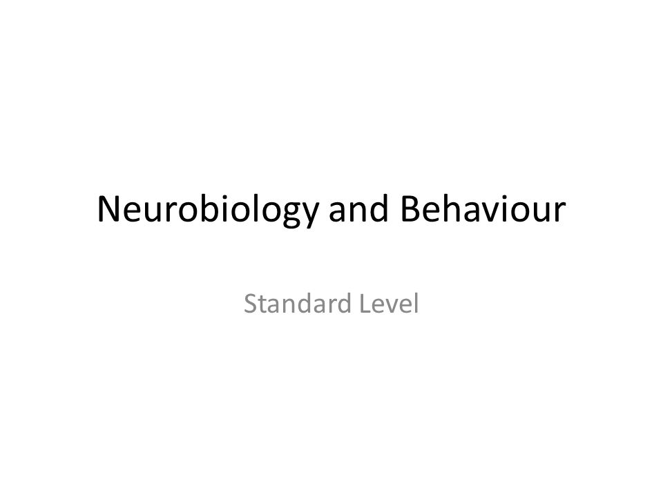 Neurobiology and Behaviour Standard Level