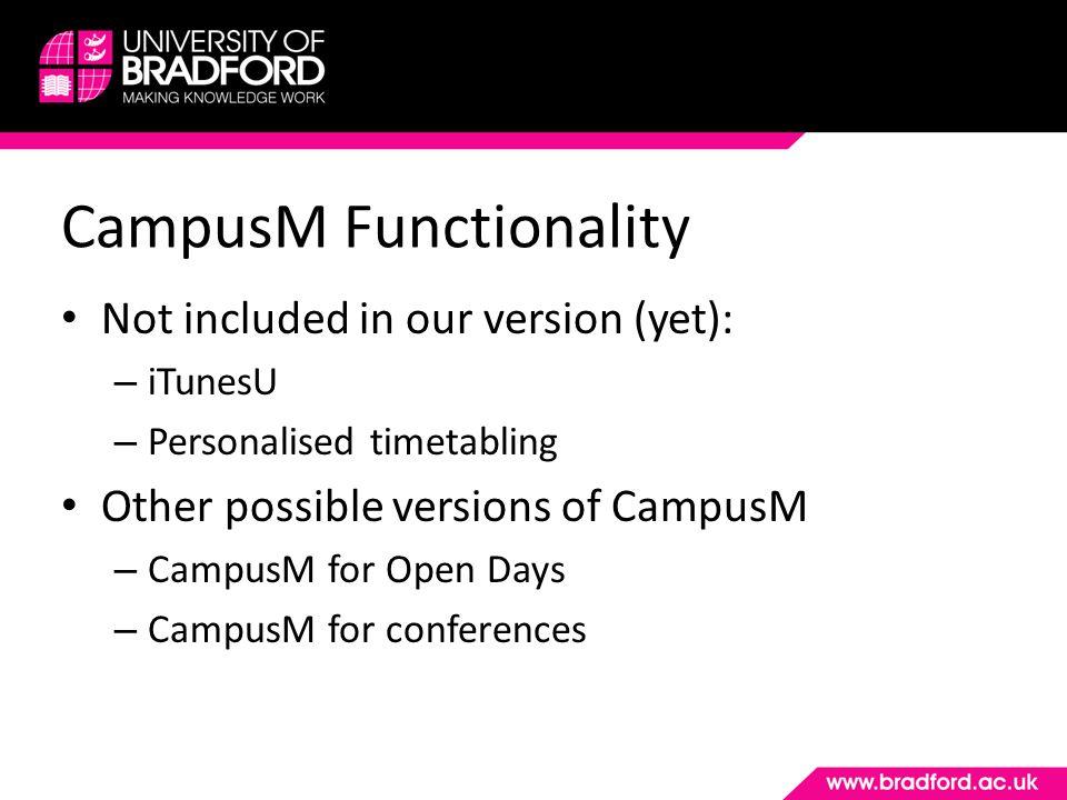 Live Demo of CampusM www.youtube.com/watch?v=Rv1bUlzCzPY