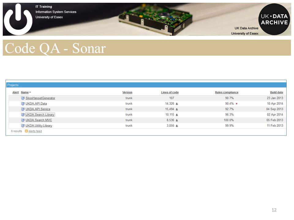 Code QA - Sonar 12
