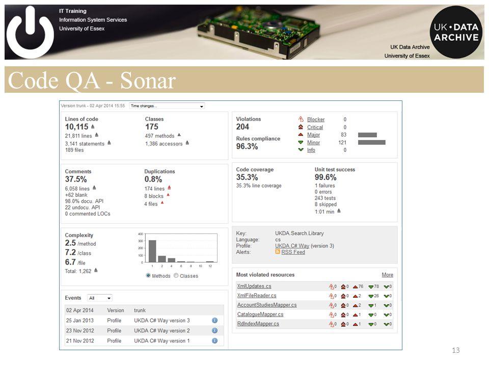 Code QA - Sonar 13