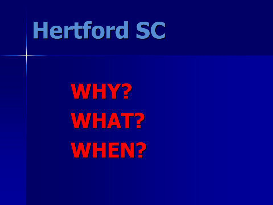 Hertford SC WHY?WHAT?WHEN?