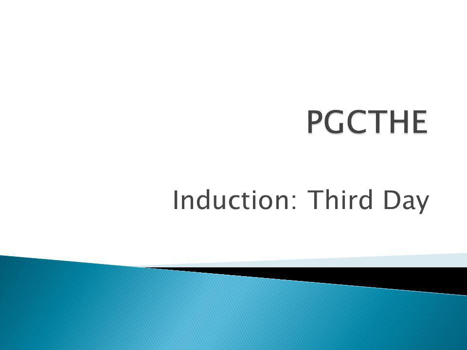 Induction: Third Day