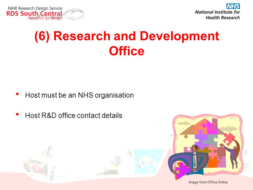 Host must be an NHS organisation Host R&D office contact details (6) Research and Development Office Image from Office Online