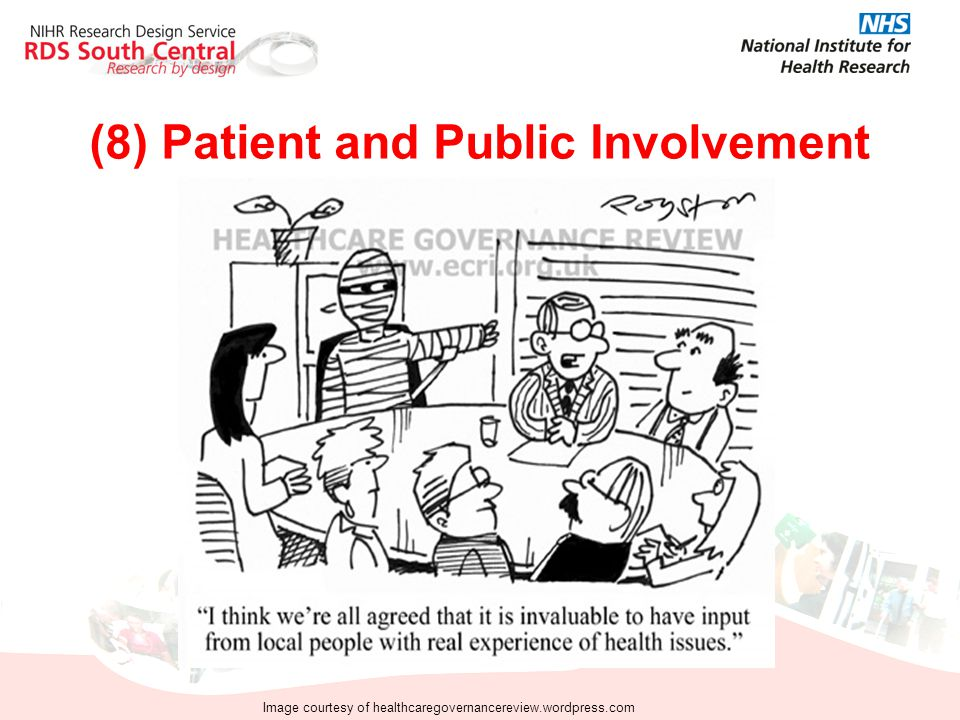 (8) Patient and Public Involvement Image courtesy of healthcaregovernancereview.wordpress.com