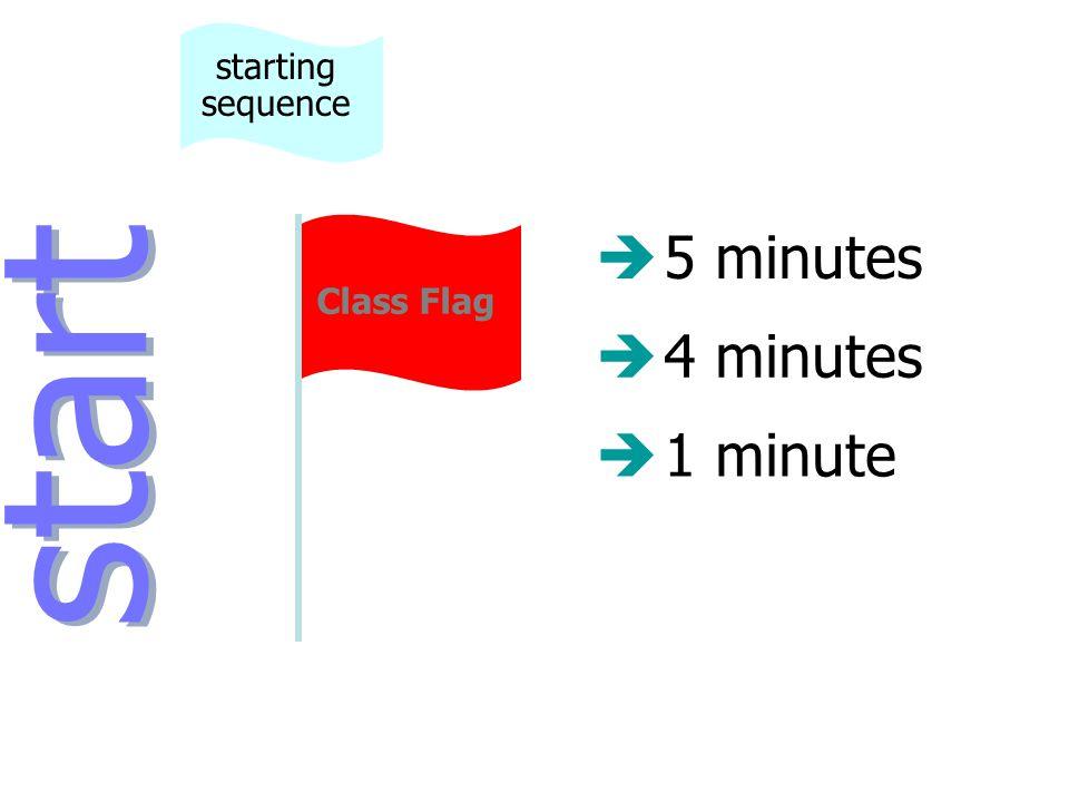 è5 minutes è4 minutes start starting sequence Class Flag