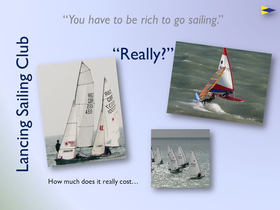If you can't sail… Sailing a boat is like driving a car.