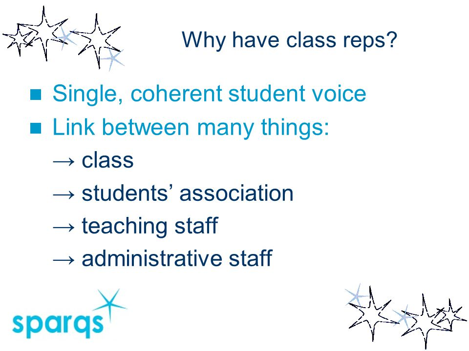 Observations Consultancy pilot in north of Scotland Most colleges worked on class reps: → seen as vital building blocks → often little consensus on role → little assessment of impact 5 key questions from the year…