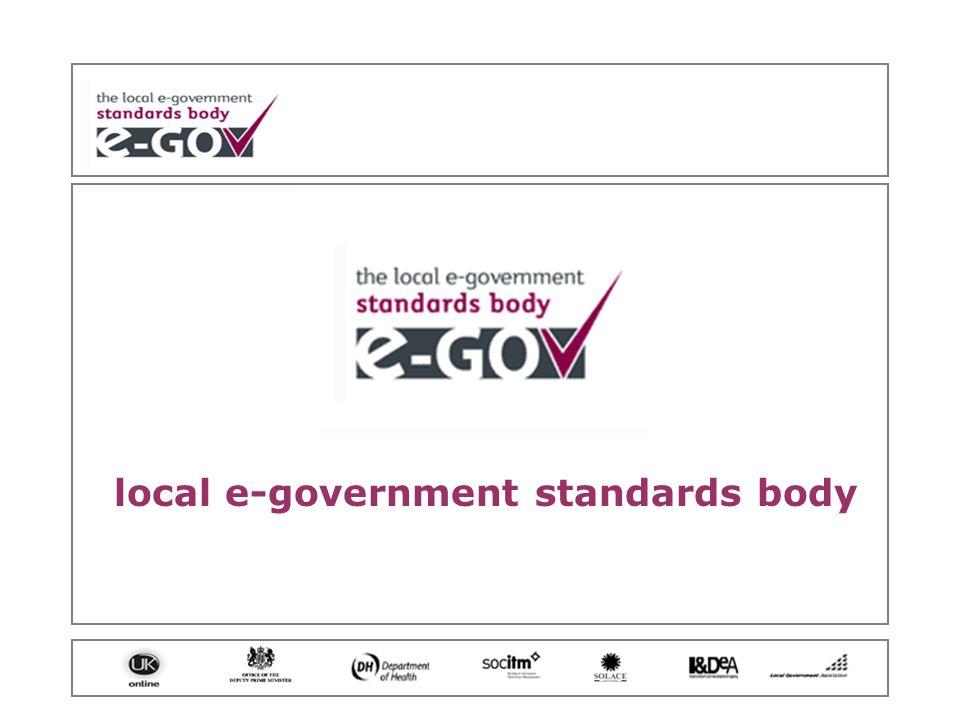 local e-government standards body