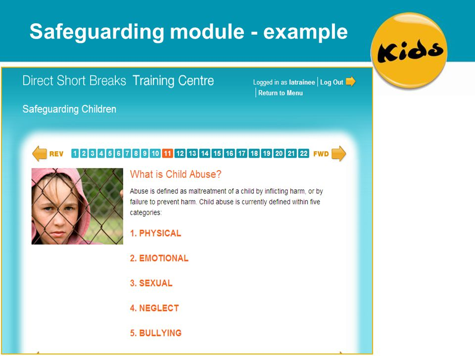 Safeguarding module - example