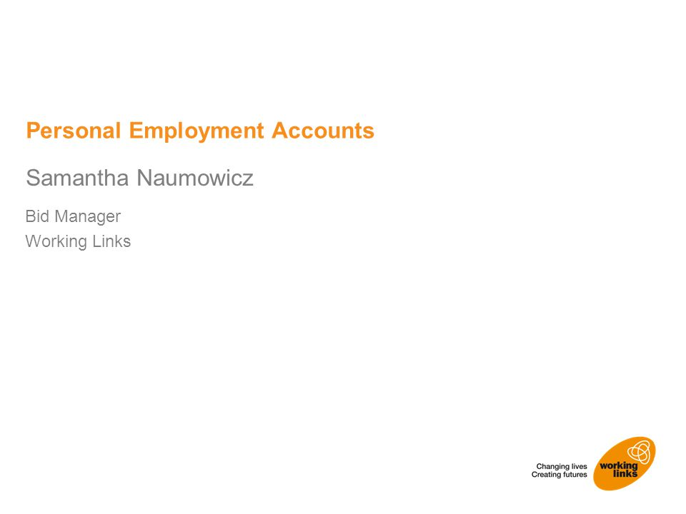 Bid Manager Working Links Samantha Naumowicz Personal Employment Accounts