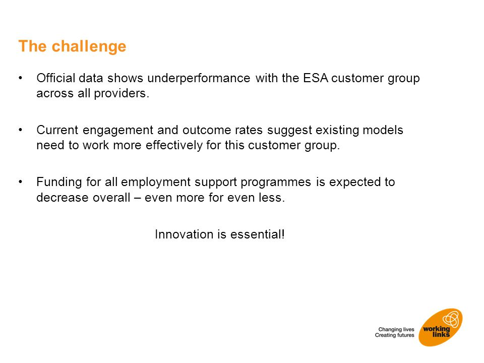 Official data shows underperformance with the ESA customer group across all providers.