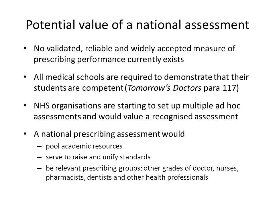 Why assess prescribing.