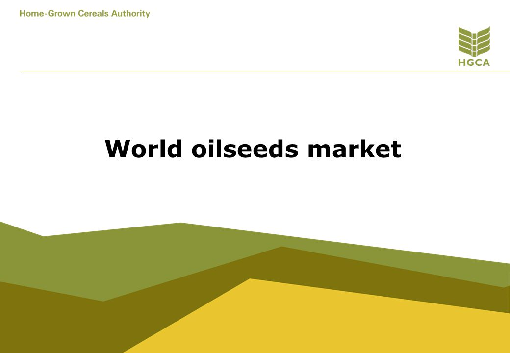 World oilseeds market