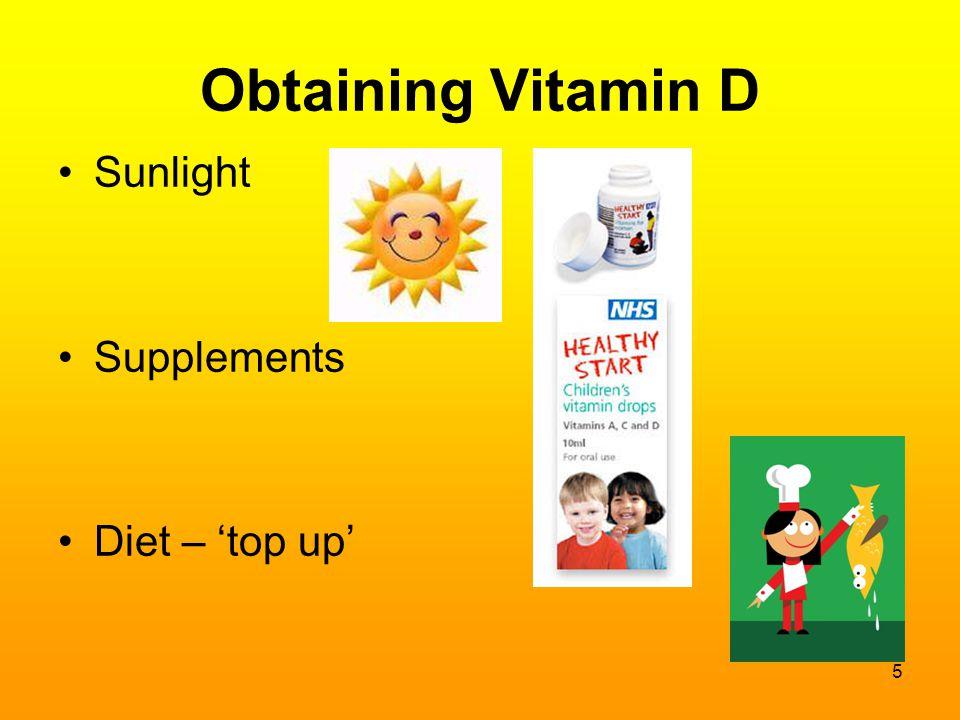 Obtaining Vitamin D Sunlight Supplements Diet – 'top up' 5