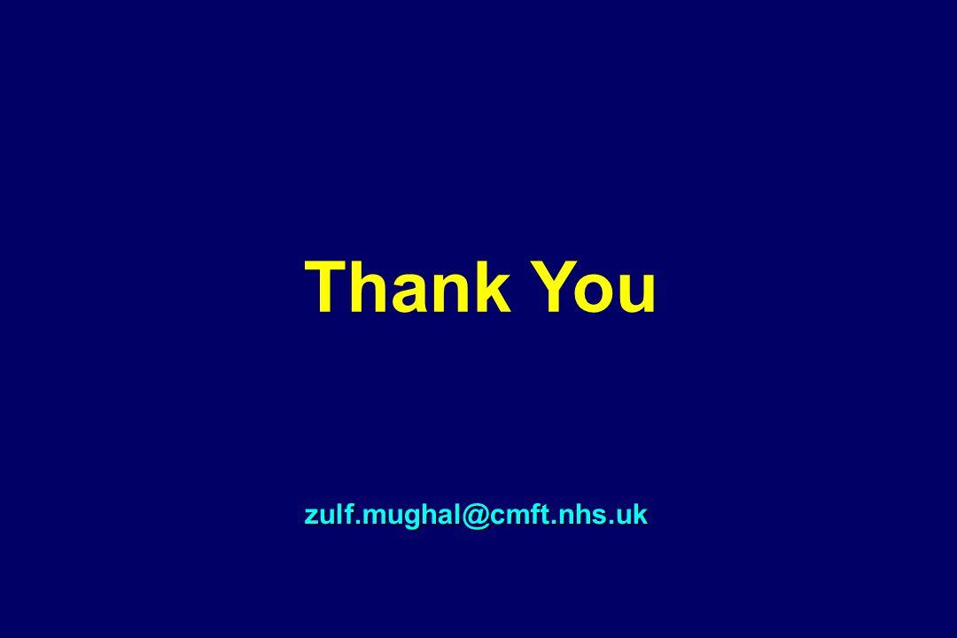 Thank You zulf.mughal@cmft.nhs.uk