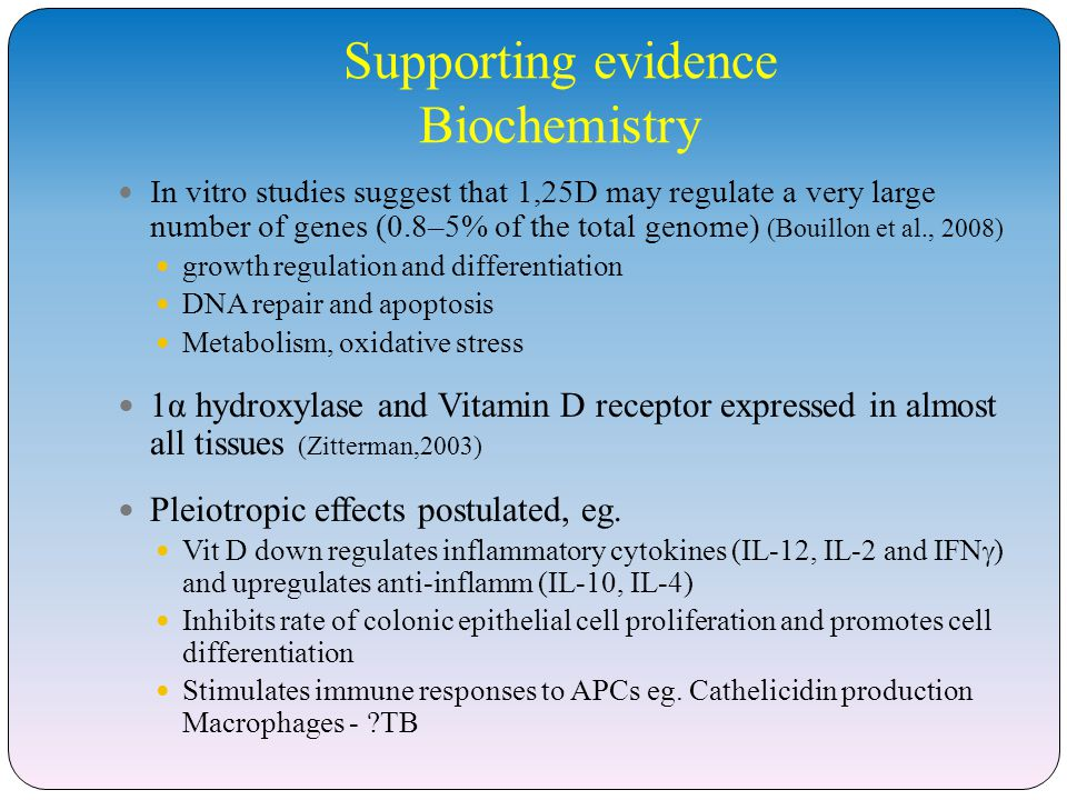 Endocrine, autocrine and paracrine effects of vitamin D Holick, M. (2006)