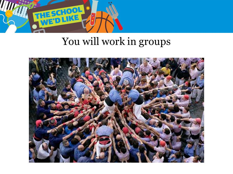 You will work in groups