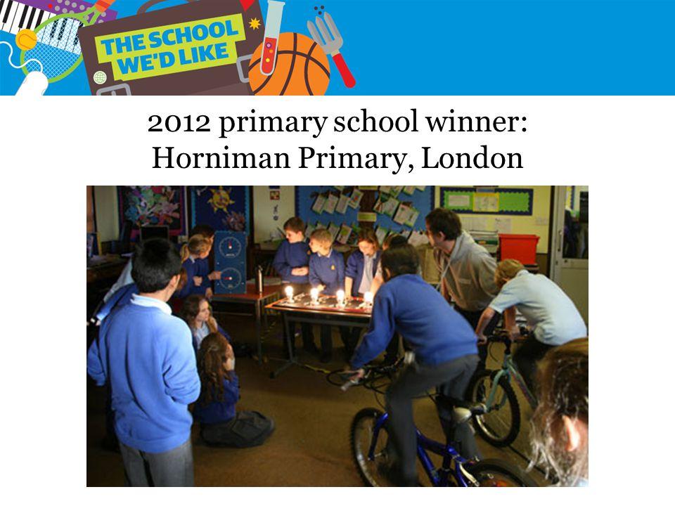 2012 primary school winner: Horniman Primary, London