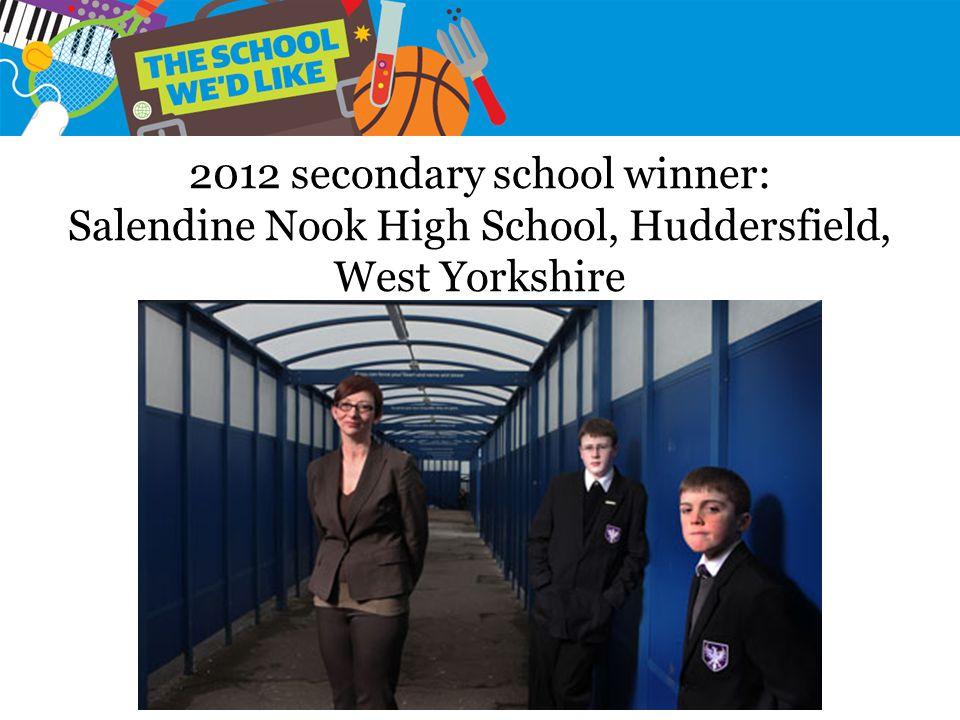 2012 secondary school winner: Salendine Nook High School, Huddersfield, West Yorkshire