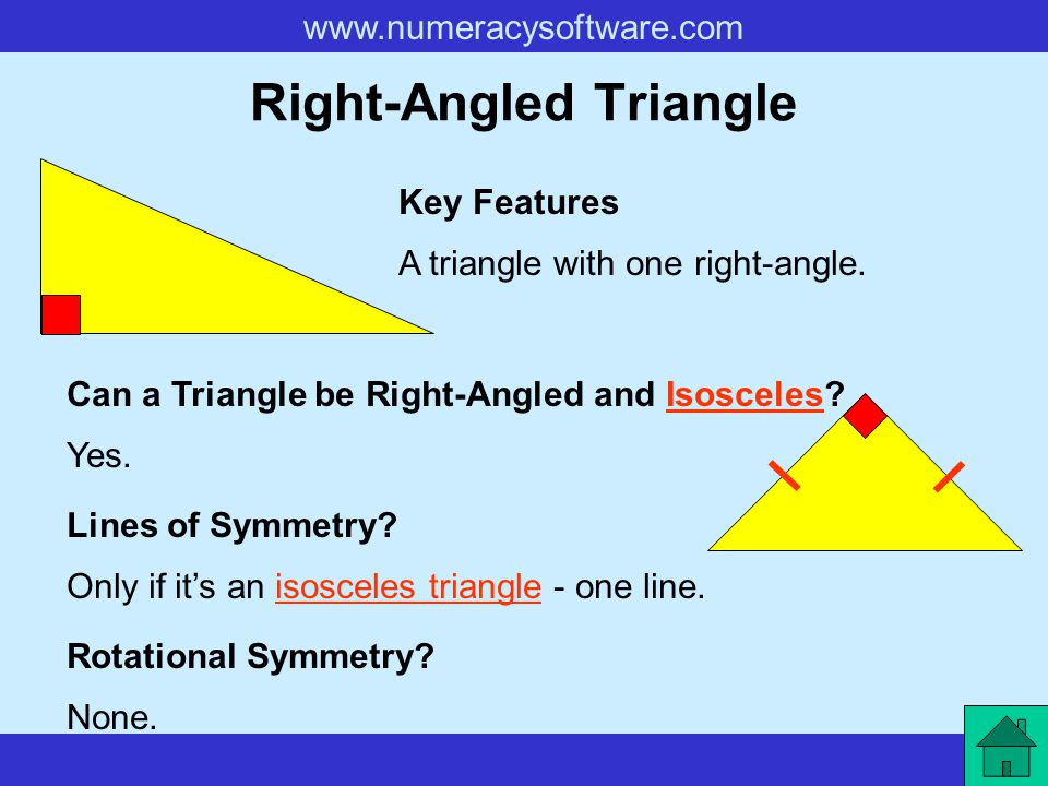 Right Angled Triangle Rotational Symmetry