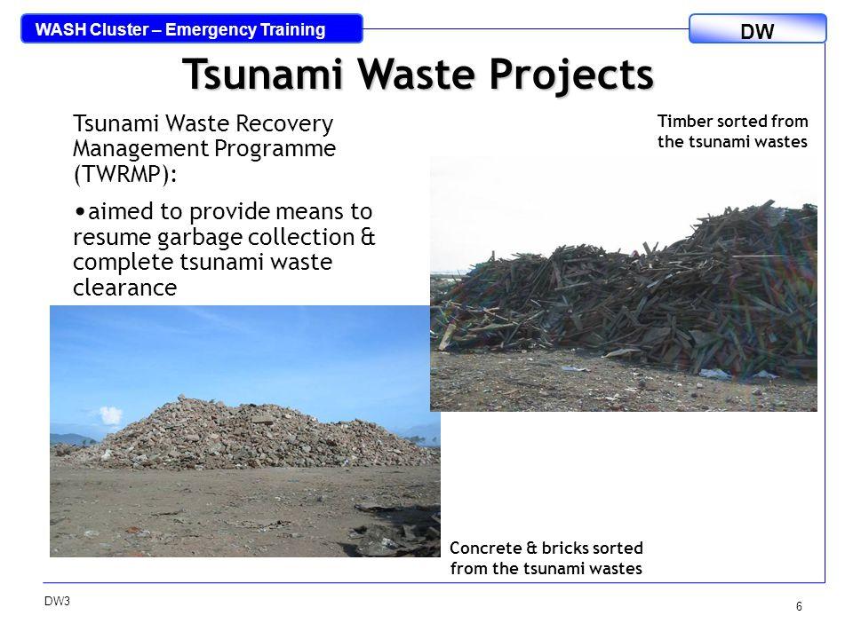 WASH Cluster – Emergency Training DW DW3 7 Burning wastes at KP.