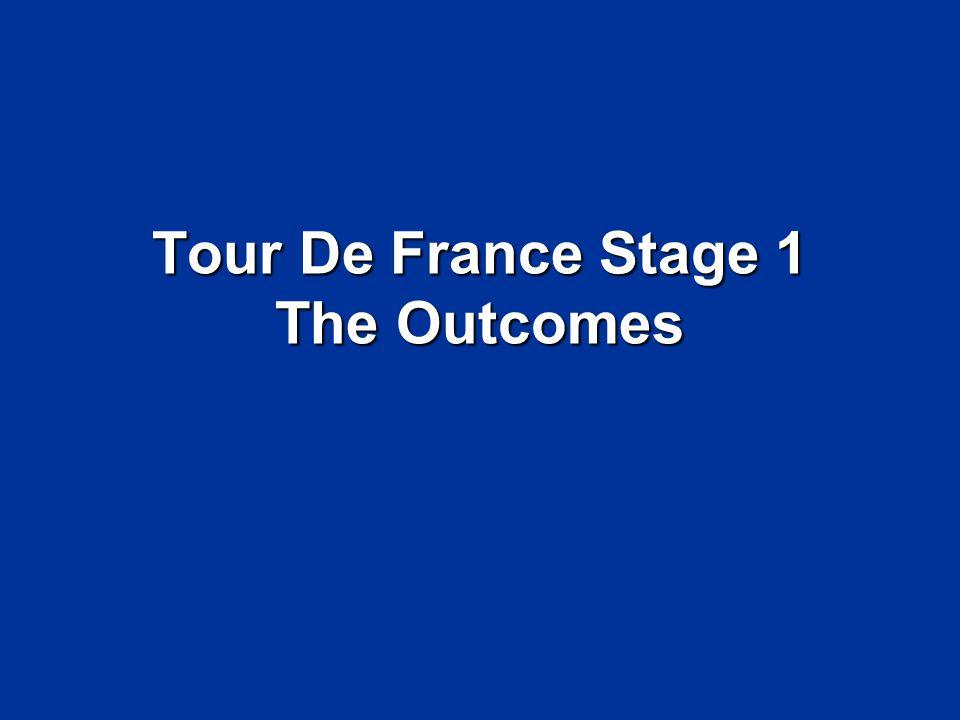 Tour De France Stage 1 The Outcomes