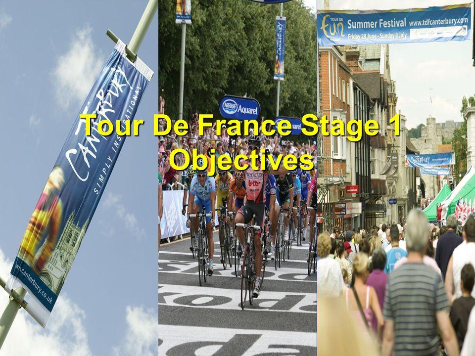 Tour De France Stage 1 Objectives