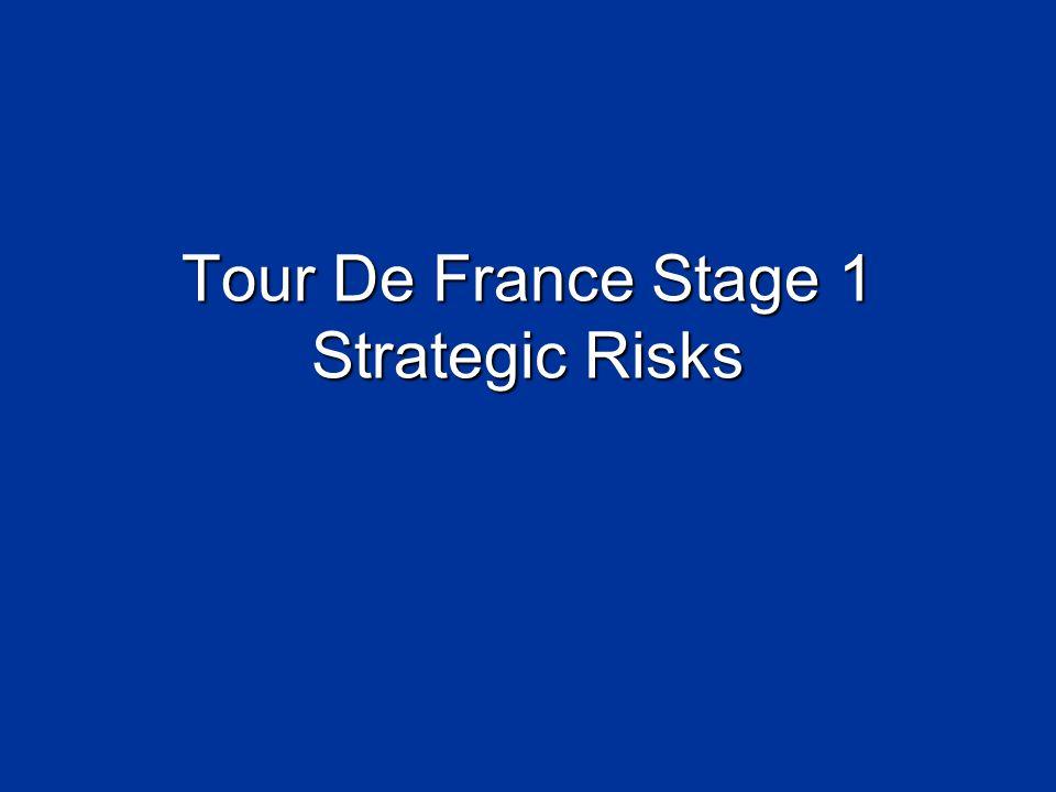 Tour De France Stage 1 Strategic Risks