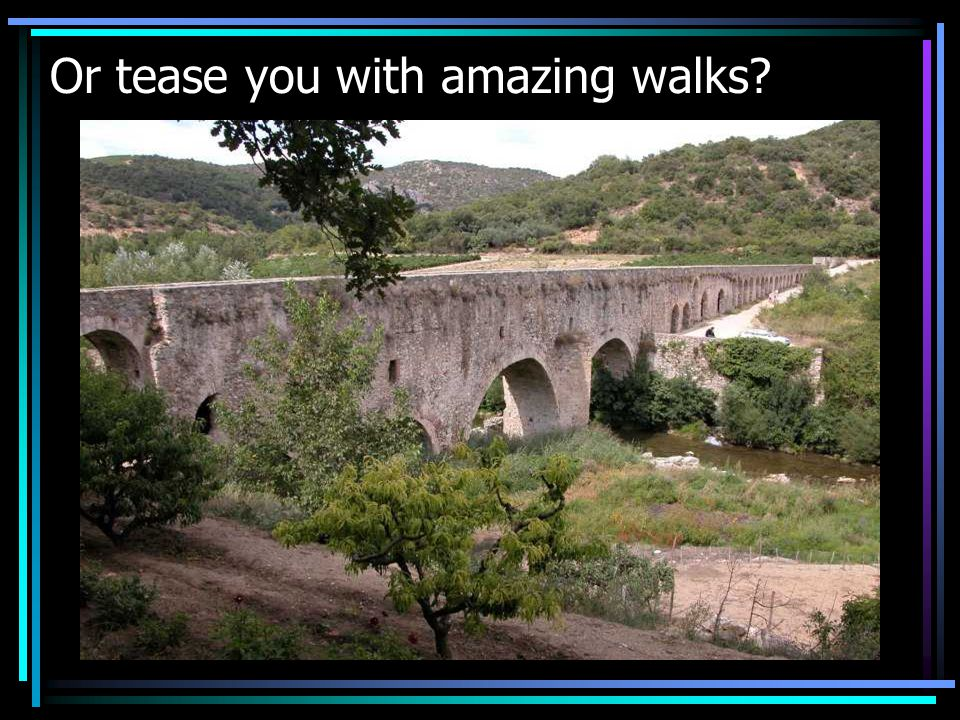 Or tease you with amazing walks