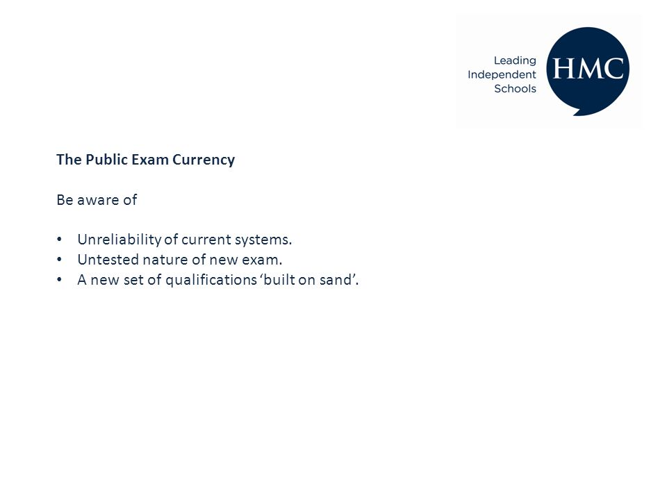 The Public Exam Currency Be aware of Unreliability of current systems.