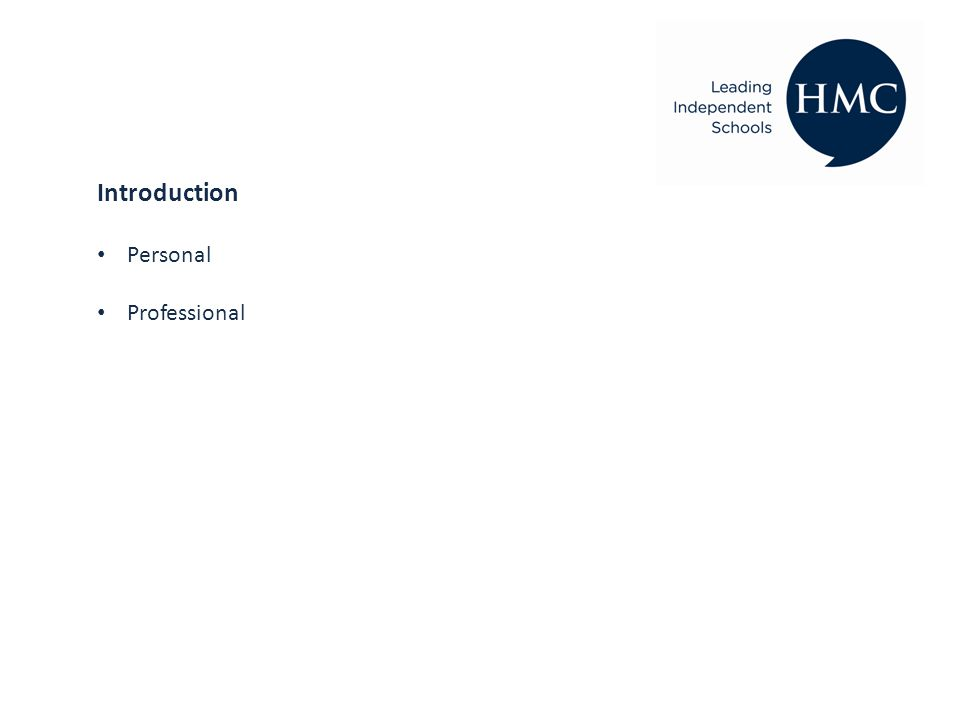 Introduction Personal Professional