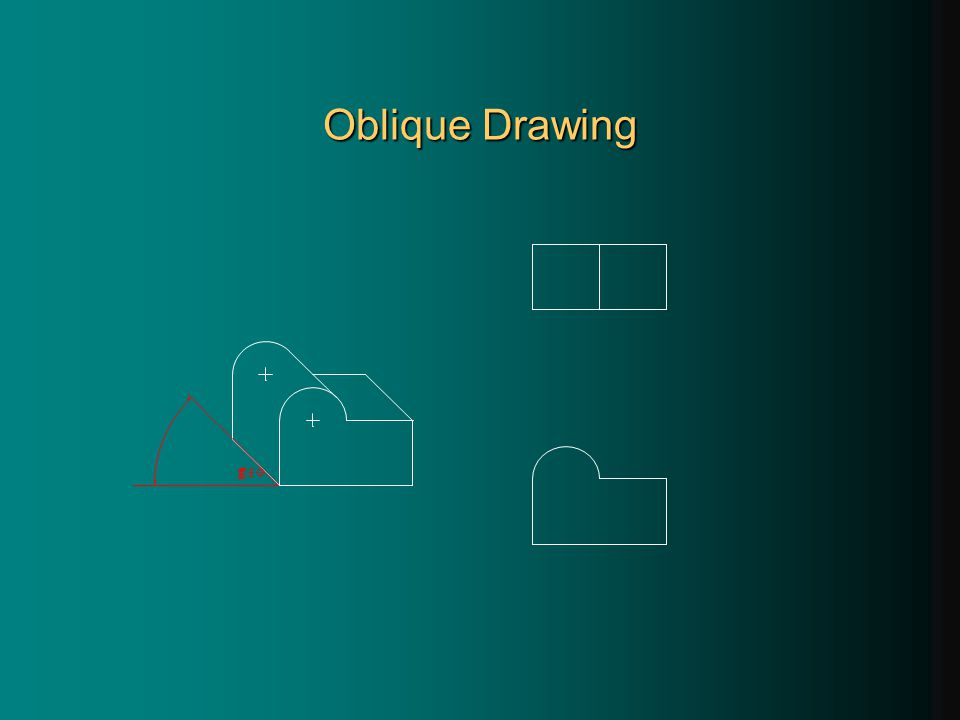 Oblique Drawing 45°