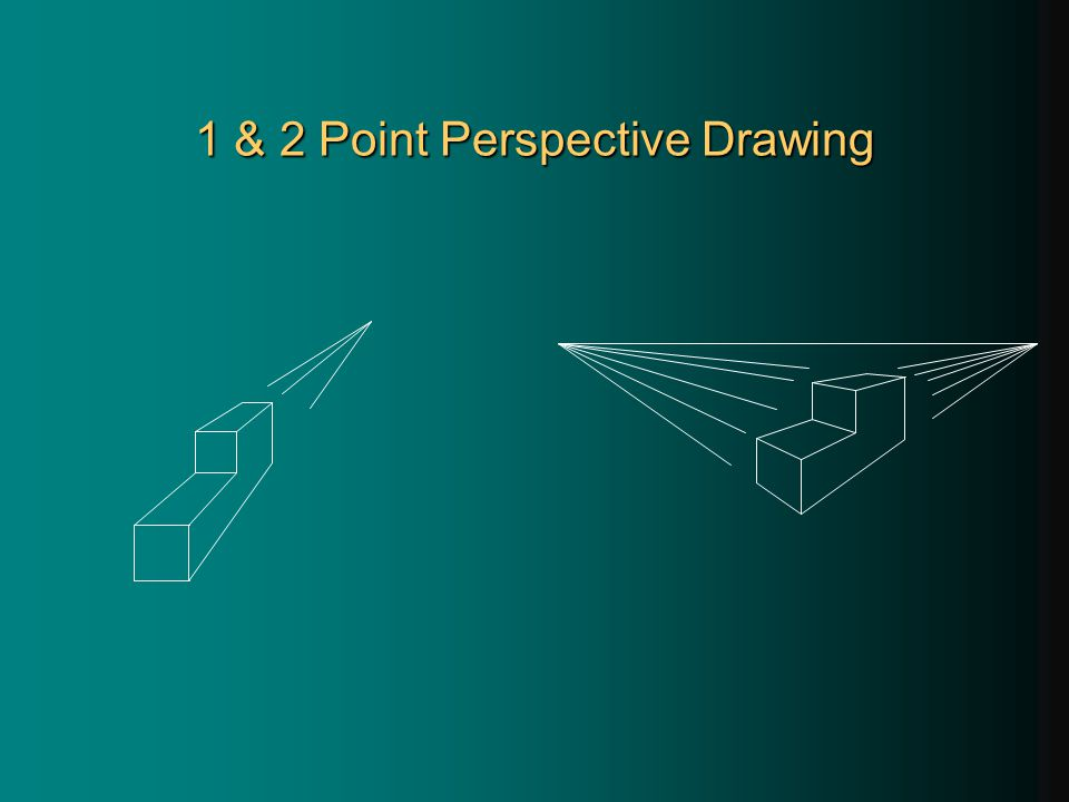 1 & 2 Point Perspective Drawing