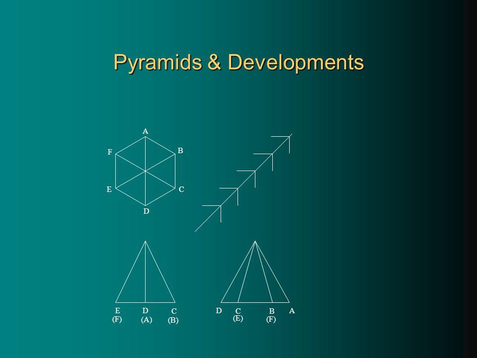 Pyramids & Developments A E D C B F C B A D (E) (F) E D C (A) (B)