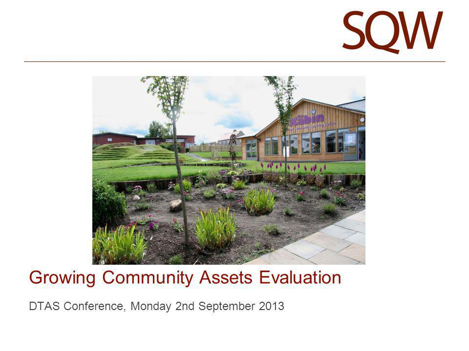 DTAS Conference, Monday 2nd September 2013 Growing Community Assets Evaluation