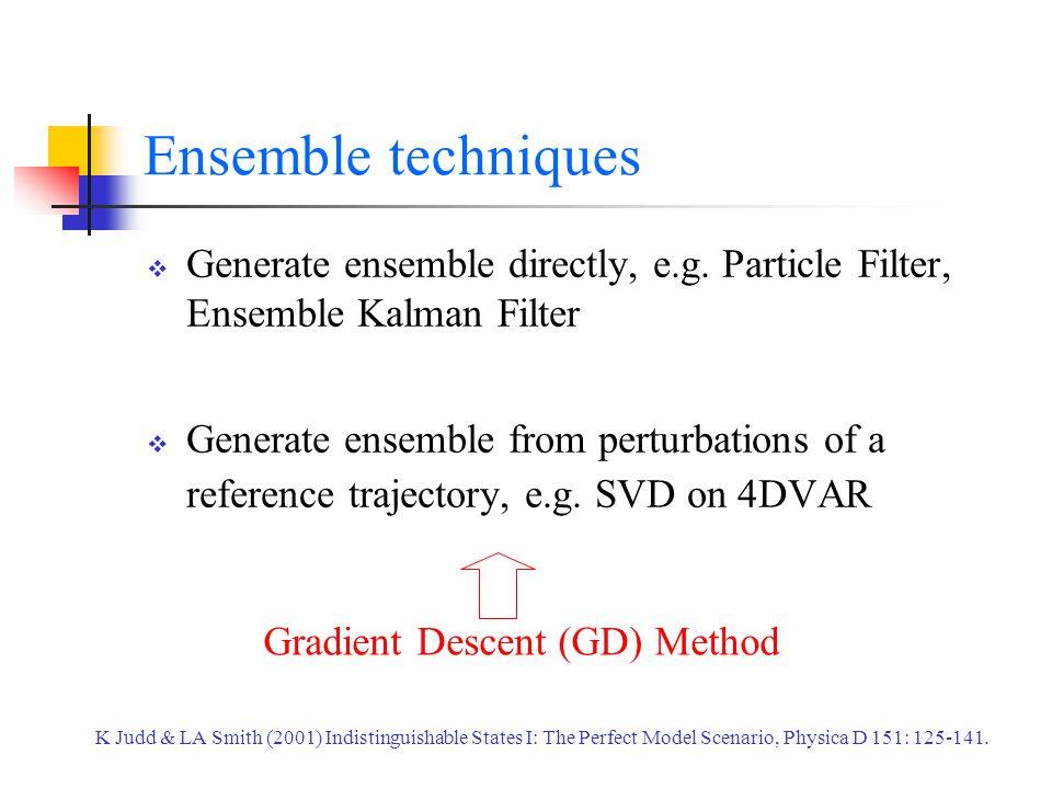 Ensemble techniques  Generate ensemble directly, e.g.