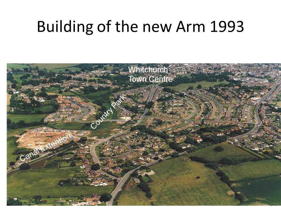 Building of the new Arm 1993 Canal Extention Country Park Whitchurch Town Centre