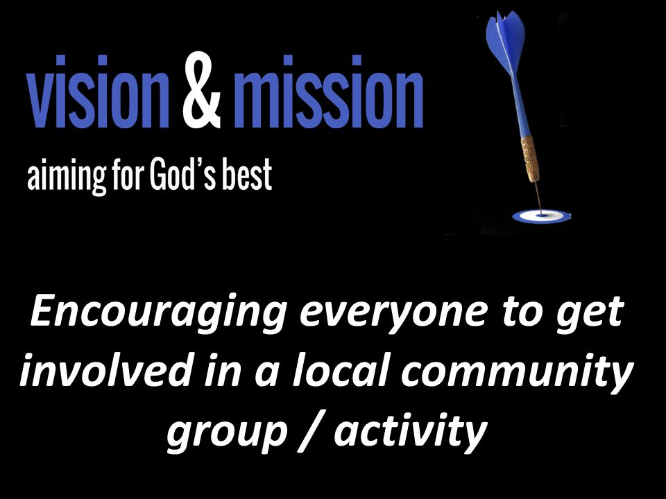 Encouraging everyone to get involved in a local community group / activity