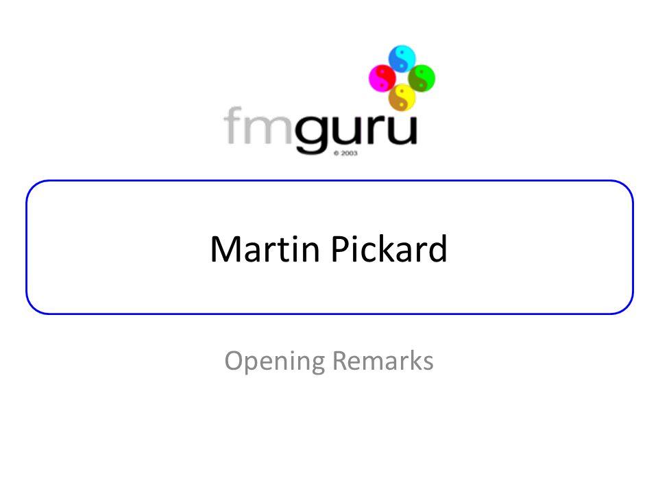 Martin Pickard Opening Remarks