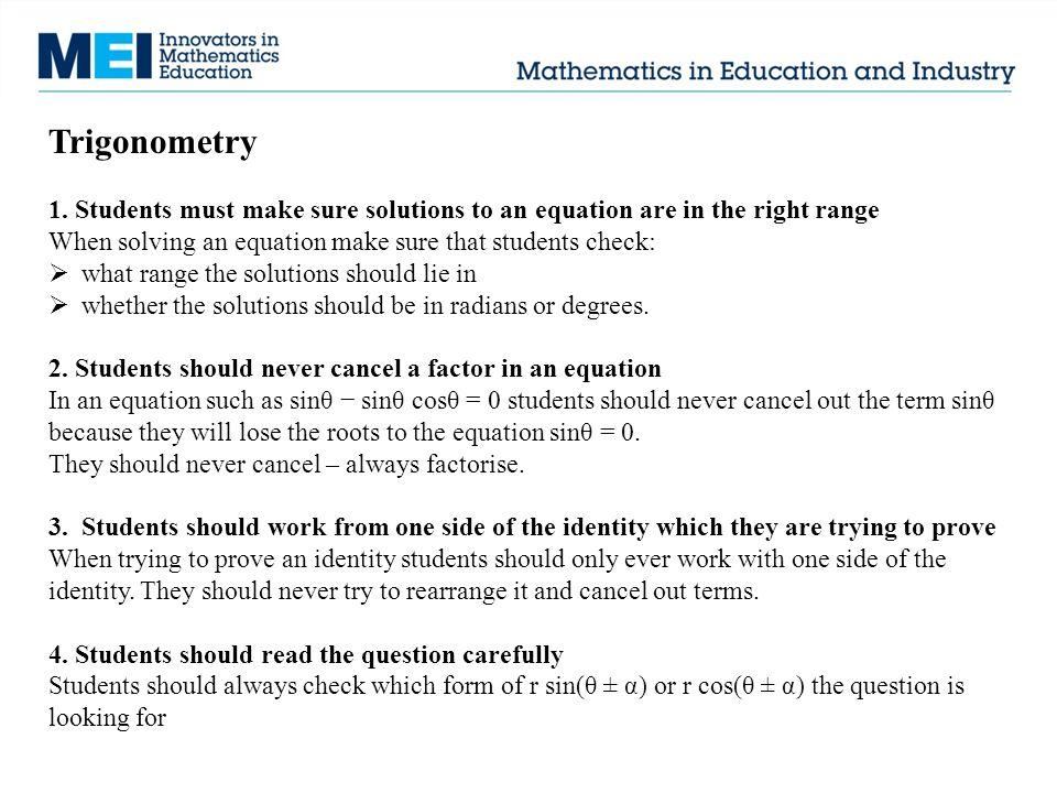 Trigonometry 1.