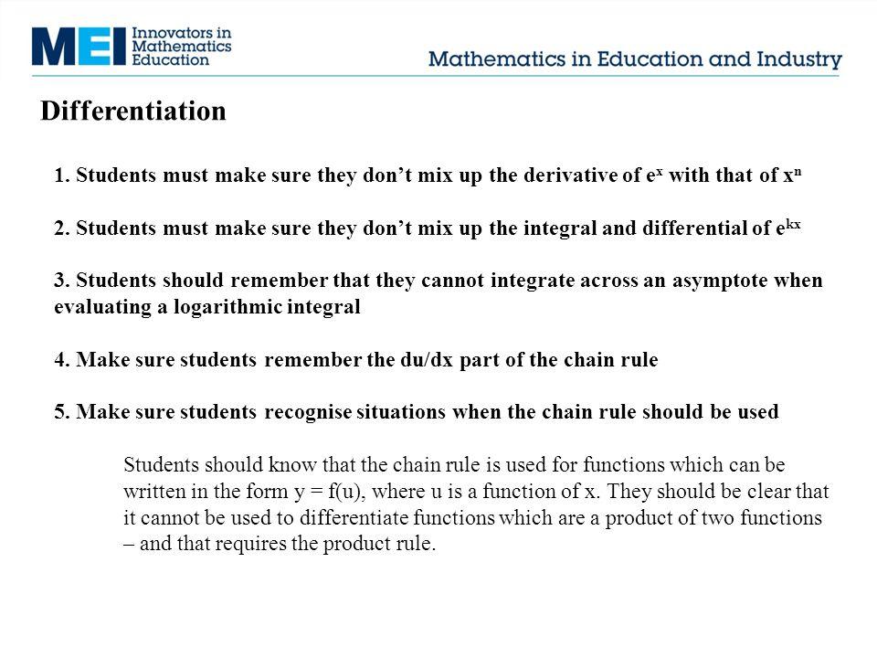 Differentiation 1.