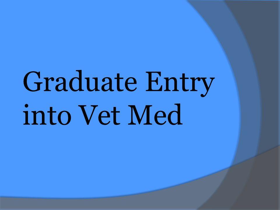 Graduate Entry into Vet Med