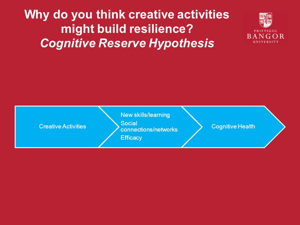 Why do you think creative activities might build resilience.