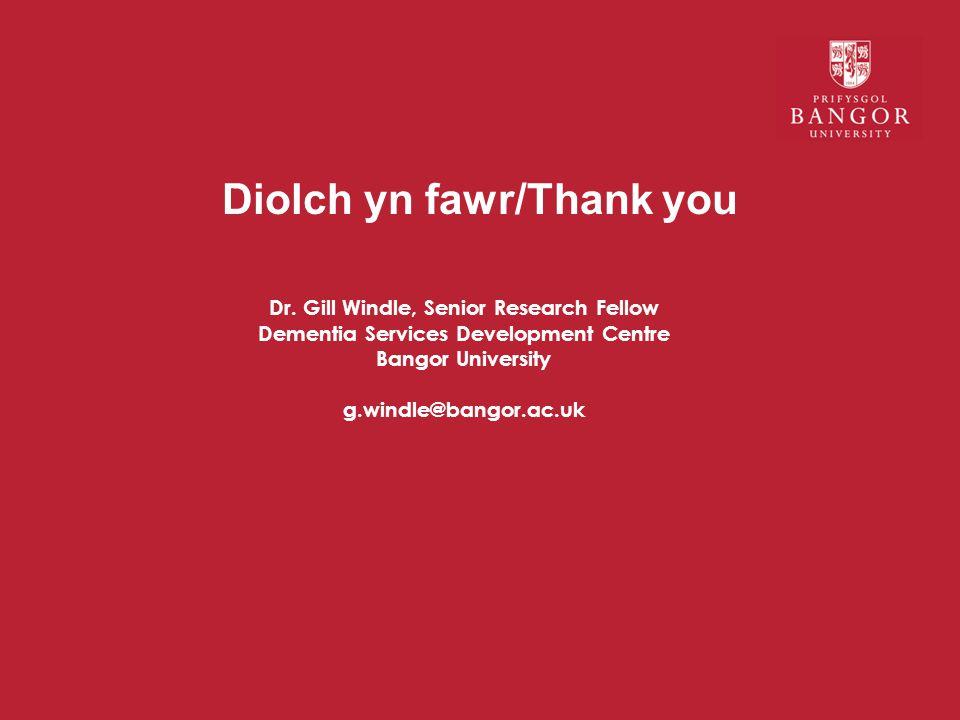Diolch yn fawr/Thank you Dr.