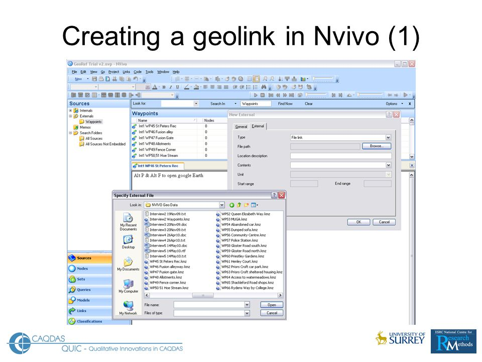 Creating a geolink in Nvivo (1)