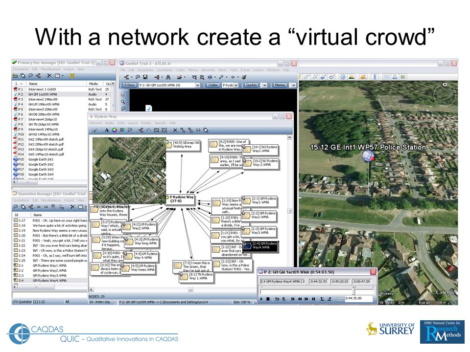 With a network create a virtual crowd