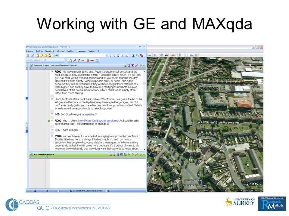 Working with GE and MAXqda