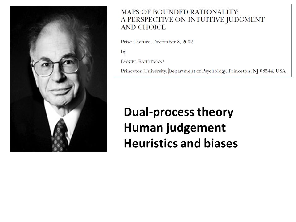 Dual-process theory Human judgement Heuristics and biases